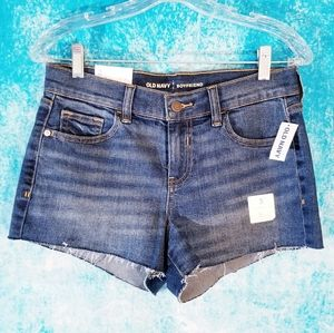 Old Navy Boyfriend Cut Off Deep Sky Denim Shorts